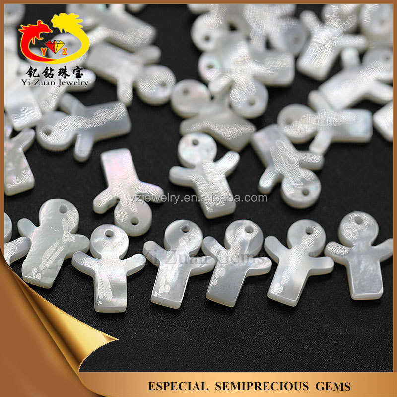 Good quality Factory lower price sea shell slice stone beads with hole