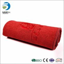 China Luxury Soft All Red Embroidery Customed Holiday Towel