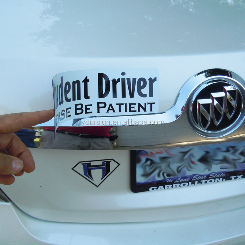 Please Be Patient Student Driver Magnetic Safety Sign Vehicle Bumper Magnet sticker