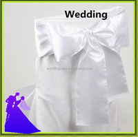 Wedding organdy satin cheap chair cover sash factory price