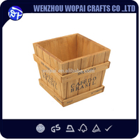 classical natural color wood case woode wash tub for wine use