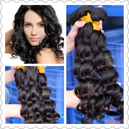 Suit sweet black girls best ! human hair brazilian curly hair extension
