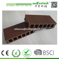 Hot Sale WPC (wood and plastic composite) Outdoor Decking/ WPC composite deck boards Grooved outdoor WPC decking