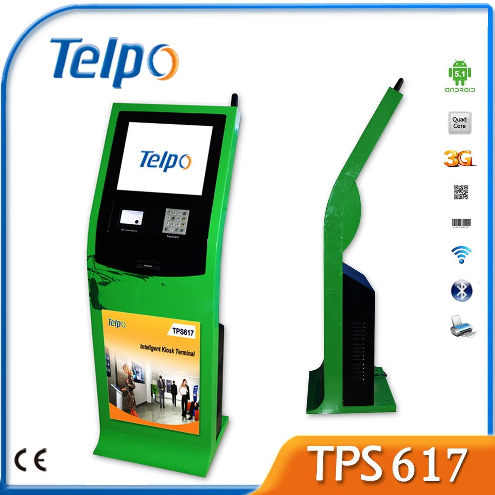Telpo TPS617 Multi-function internet kiosk machine with 1D/2D Barcode Reader