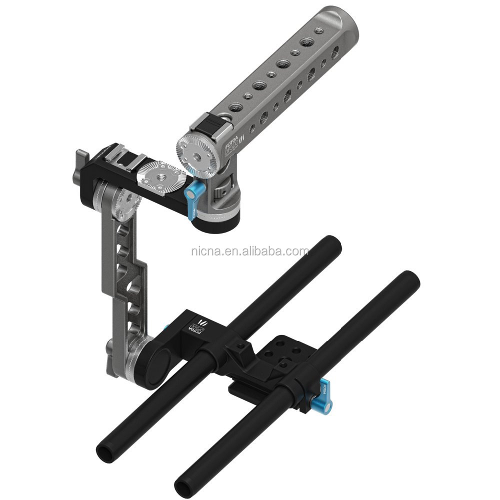 FOTGA DP500III DP500 III ENG Style 15mm Rail Top Handle Bracket Cage Hand Grip for A7 A7S A7R II BMPCC 5DII 5DIII DSLR Camera