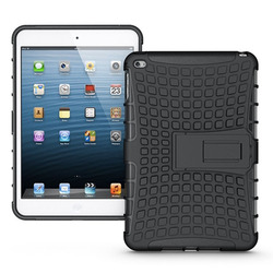 PC TPU Hybrid Armor Cover For Ipad mini 4 Shockproof Hard Case With Kickstand