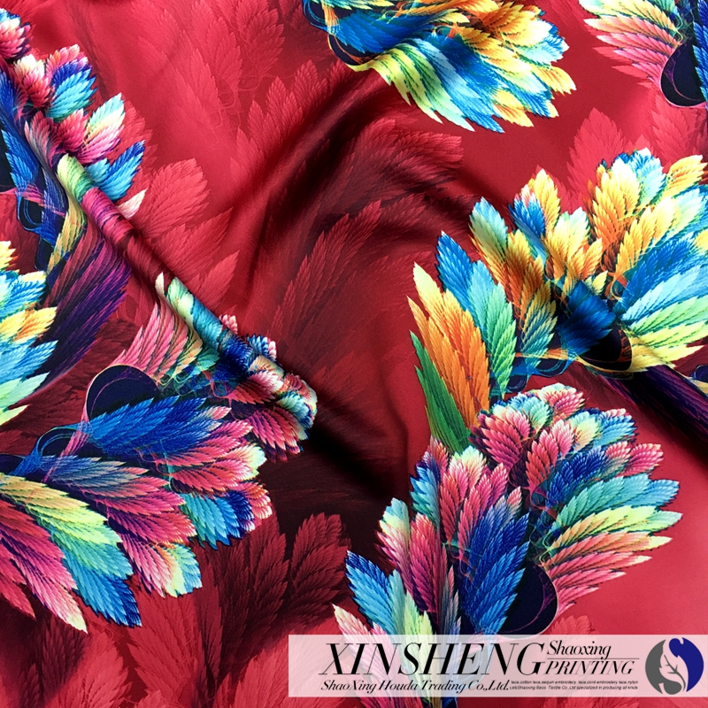 sublimation 100%polyester hot sales textile satin fabric in Keqiao