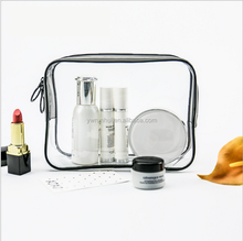 Wholesale New Style Waterproof Transparent pvc Makeup Bag with zipper Travel Cosmetic Pouch