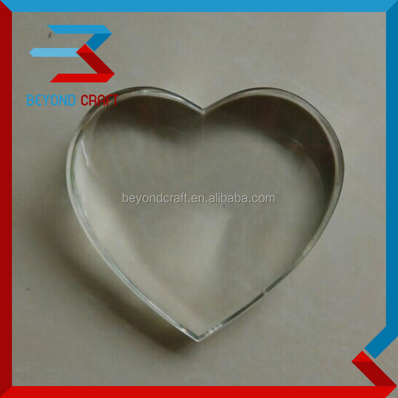 heart shape customized blank crystal paperweight with your logo for wedding favors