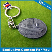 Bespoke metal 3D ship keychain shoes keychain wholesale
