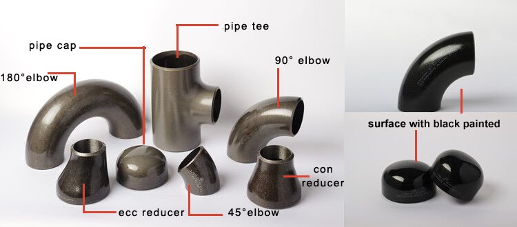 8 inch carbon steel 5d 45 degree elbow dimensions pipe fitting