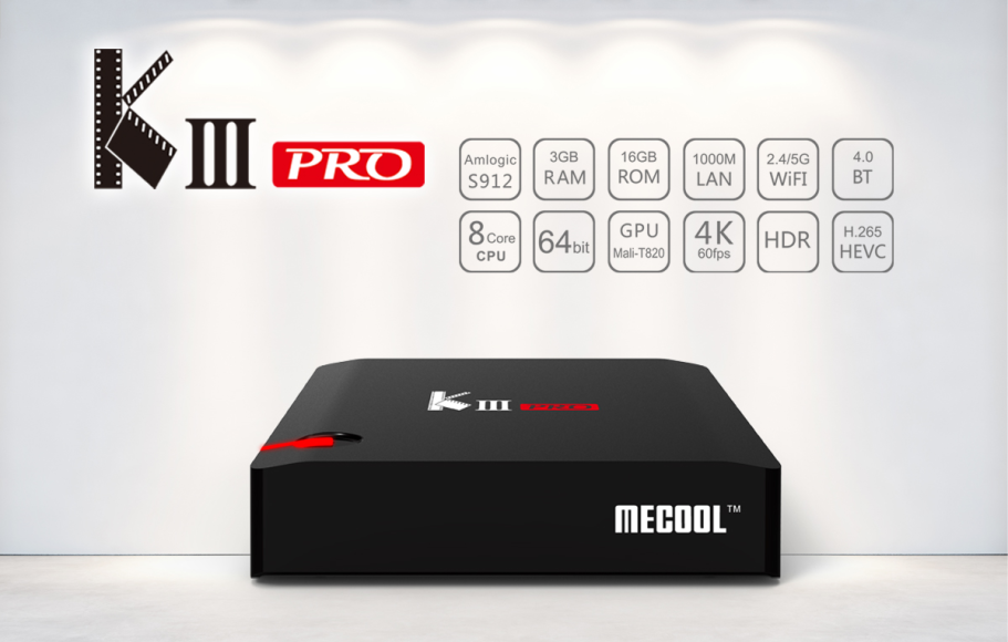 kiii pro dvb t2 s2 4k satellite receiver box tv android 7.1 android tv box ddr4 3gb ram