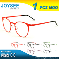 Wholesale 2016 Joysee Lightweight Fashion Trendy Round Metal Optical Eyewear Glasses Brand With Factory Price