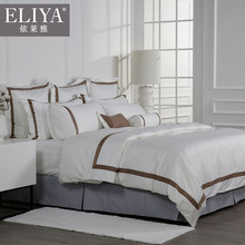 ELIYA hotel products bed sheet,hand embroidery designs for bed sheets
