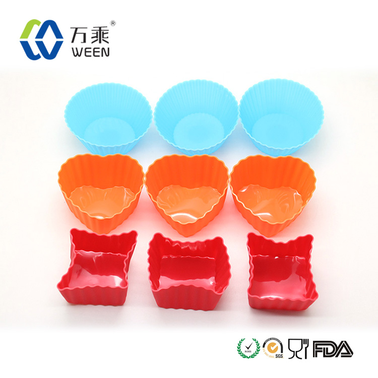 Christmas silicon different shapes cake mould
