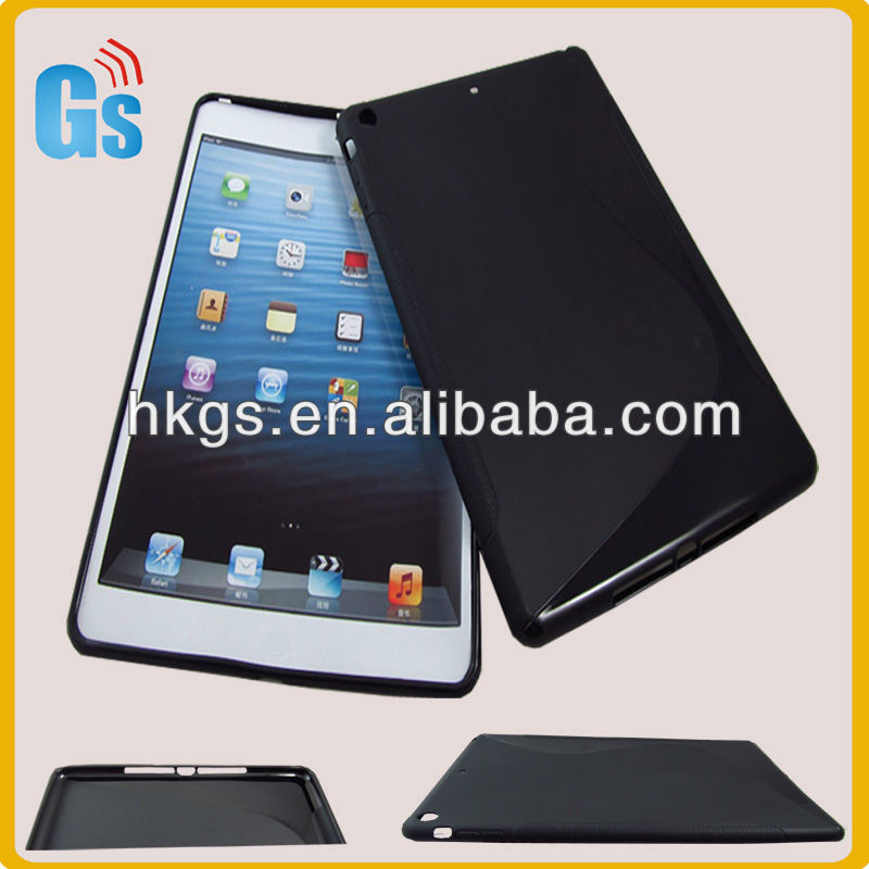New Arrival For iPad 5 S Line Wave Style TPU Back Cover Case