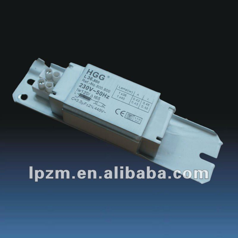 magnetic ballast for fluorescent lamp 15-40w