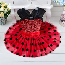 Red Flower Girl Tulle Dress Patterns Birthday Wedding Party 5 Years Old Mini Dress For Girls MINIDRESS001