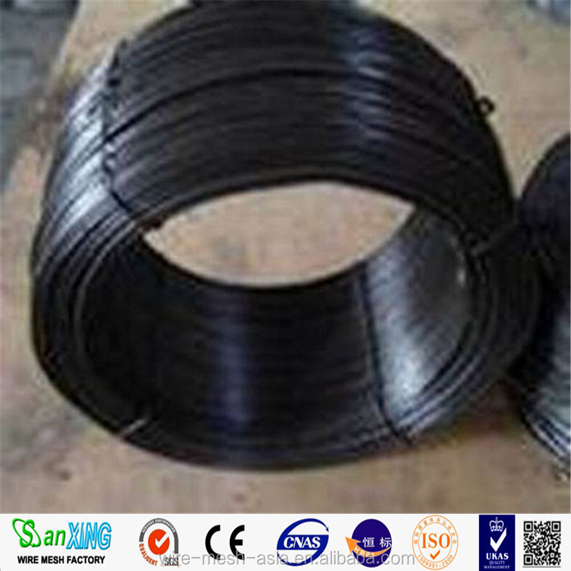 Hot sale Factory Soft 9 12 14 16 gauge Black Wire / Black Tie Wire / Black Annealed Wire