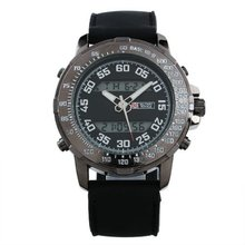 Military Royale Mens Black Bezel Multi-functional Design Rubber Army Watch MR065