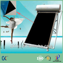 Black chrome plated copper solar swimming pool component