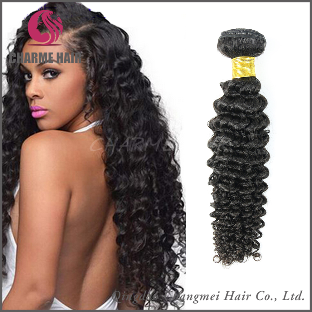 Top Grade Unprocessed High Quality Extension Remy Human Different Types Of Curly Weave Hair