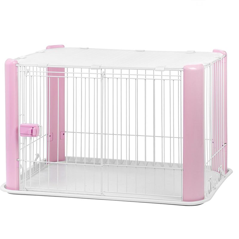 Iris square wire dog playpen create with mesh roof dog cages