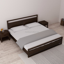 Bedroom furniture 1.8M rubber wood double bed