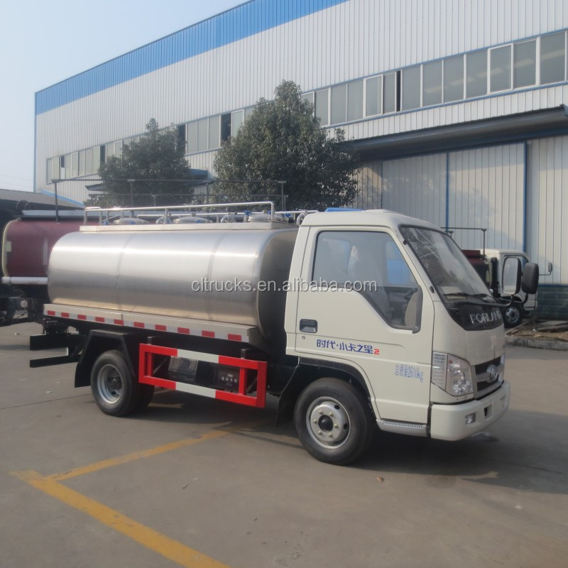 high quality factory sale 4*2 FORLAND 3000L liquid food tanker
