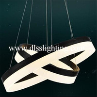 modern iron led ring pendant lights for hotel project