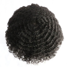 Indian human hair type and remy hair grade the base within 8&quot;<strong>x10</strong>&quot; afro curl toupees for black men