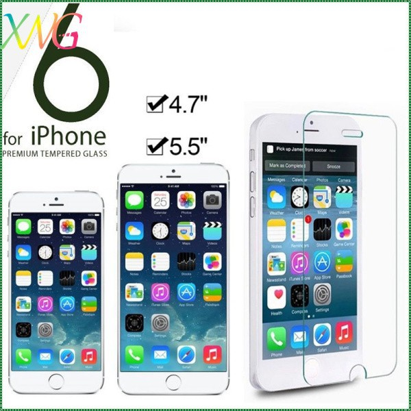 "New Customized Tempered Reinforced Glass Screen Protector For Iphone 6 4.7"" Protective Front Film Retail Box"