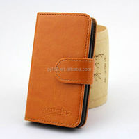 factory price phone cases wallet leather cover case for HUAWEI Ascend P6 MINI