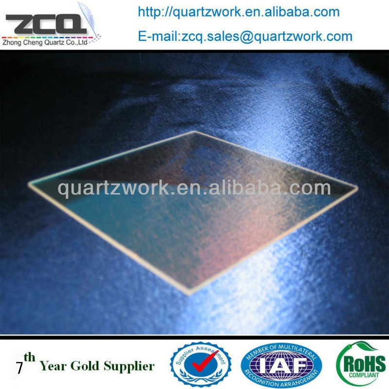Clear Rectangle Or Round Quartz Glass Plate Thin Quartz Window