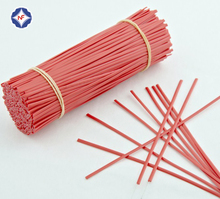 Widely Used Red Single Wire Plastic Coated Twist Tie