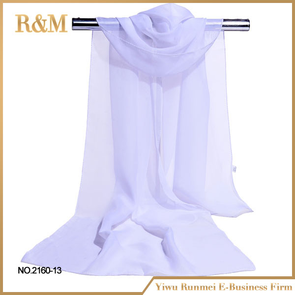 Latest hot selling!! originality white silk scarf for painting wholesale
