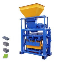 China products Hollow manual block making machine type method and concrete flyash raw material price in India manufacturing