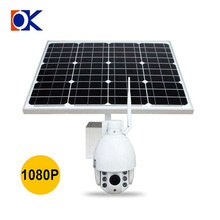 wifi 1080P 60W Mono Solar panel 2.8-12mm 6 LED support 2G 3G 4G sim card outdoor solar power wireless 4G HD IP cameras