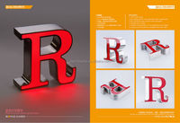2015 high quality illuminated letter fonts in factory price