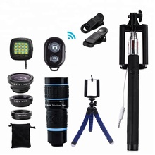 12 in 1 lens Kit, 180 degree Fisheye 0.65 Wide Angle Wide Angle 18x External Telephoto Lens For Mobile Phone
