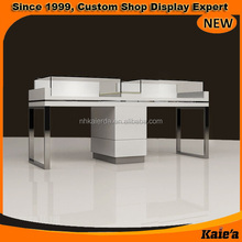 Hot sale glass wooden jewelry display stand, jewelry store display units