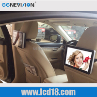 10.1 inch headrest advertising Android wifi 3G with touch taxi rear seat monitor