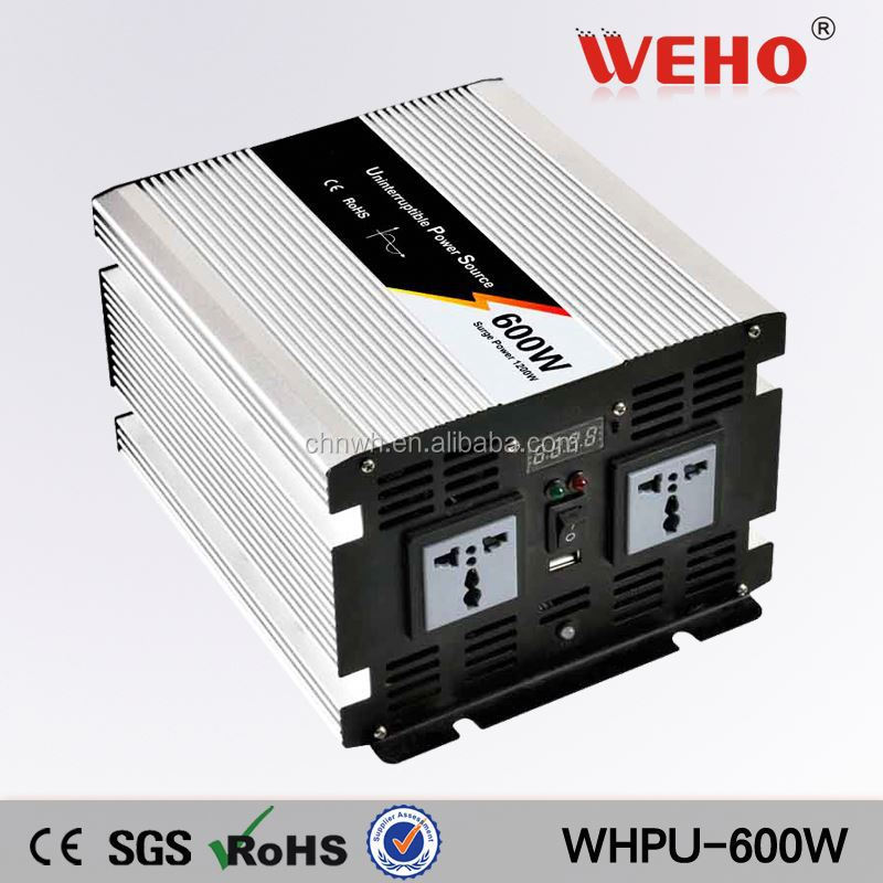 Used home 600w 24v 110v dc to ac power inverter with battery charger
