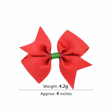 Hot sale wholesale Christmas hair bow ribbons and bows for children christmas hair accessories