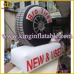 Outdoor Cheap Inflatable Advertising Tire Balloon