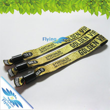 wedding favors cheap colorful woven wristband(wrist bands) for promotion