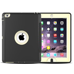 Hard Plastic Pu Leather Tablet Case for iPad 2