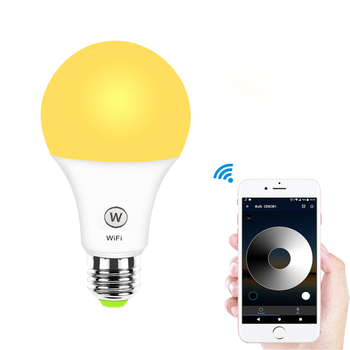 Alexa bulb smart wifi light led bulb 6.5w Warm White and Cold White LED   wireless Amazon Alexa and Google Home