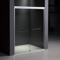 made in china shower simple glass partition