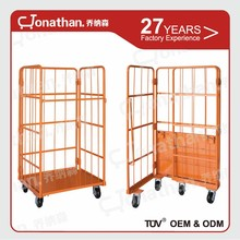 Heavy duty wire roll container supermarket roll storage metal cart